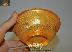 5 Ancien Palais De La Dynastie Chinoise En Argent, Coupes À Bols Phoenix Totem Phoenix En Argent Doré À L'or Fin 24k