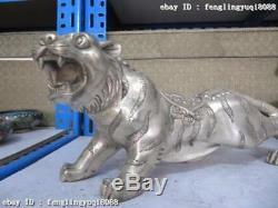 6 Statues De Tigre Représentant Un Animal En Bronze Doré