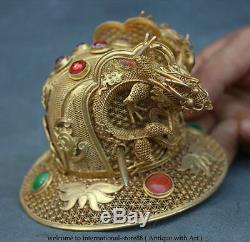6 Vieux Casinos Chinois En Argent Pur Doré À L'or Fin 24k D'or Doré Du Palais Royal