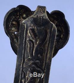 Ancien Sceptre Chinois De Ruyi, Xixe Siècle, Immortels En Argent Doré Mythologie Chine