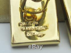 Antique Art Chinois Époque Deco D'or Sur Argent Sterling De Travail Abacus Boutons De Manchette