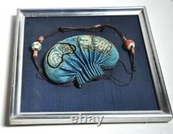 Antique Chinese Chine Qing Silk Embroidery Gold Silver Pouch Purse Kesi 19thc