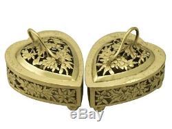 Antique Chinese Export Vermeil Potpourri Boîtes Antique Circa 1870
