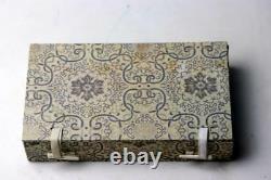Antique Chinese Gilt Silver Mirror W. Jade Plaque & Dragon Hoook Handle