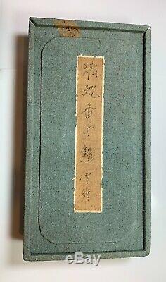 Antique Chinois Chenxiang Agar Bois Doré En Argent Incrusté Bangle Paire Originale Box
