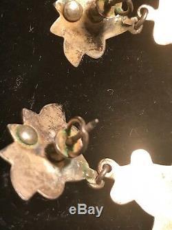 Antique Unique Exportation Chinoise Boucles D'oreilles 1800's Figural Deity Gold Dor