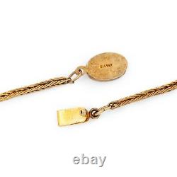 Antique Vintage Deco Style Sterling Silver Gold Laver Collier Ruby Chinois 41.7g
