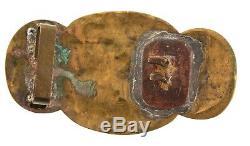 Antiquité Chinoise, Fin 19e, Jade, Bronze Doré, Dynastie Qing, Ceinture
