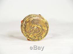 Antiquité Chinoise Grande Muraille De Chine, Petite Boîte En Argent Doré