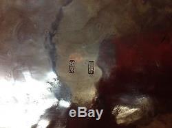 Belle Assiette En Porcelaine Dorée En Filigrane Argenté Argenté Qing De Chine