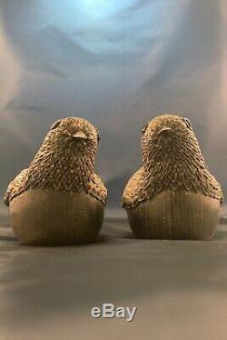 Boîte À Bijoux Chinoise Antique En Argent Sterling Avec Boîte De Caille