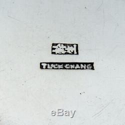 Boîte Ronde Exportation D'argent Chinois Gilt Intérieur Tuck Chang 1910