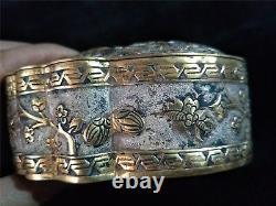 Boîtes Chinoises D'or Et D'argent Bronze Fleur&phoenix Veines Boîte De Dynastie