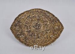 Boucle De Ceinture Ancienne En Argent Doré De Chine