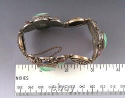 Bracelet Antique Chinois Fait Main De Pierre Précieuse De Jade Doré De Jade Large De Pierre