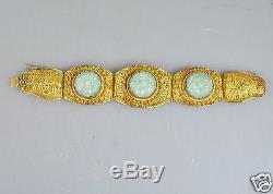 Bracelet En Jade Avec Bijoux En Filigrane Chine 1900