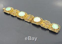 Bracelet En Jade Doré À L'exportation De Bijoux En Porcelaine De Chine, Jade