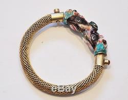 Bracelet Exportation En Émail Doré À La Chinoise, Bijoux, Éléphant De Dragon De Chine