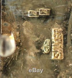 Bracelet Jadéite En Filigrane D'argent Et Émail De Chine, Époque 1920, À Charnière