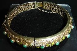 Bracelet Jonc Émaillé En Filigrane Doré Avec Émail Doré