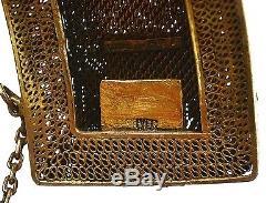 Bracelet Jonc Vintage Chinois En Filigrane De Lapis Lazuli En Filigrane Doré, Mk