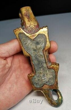 Bronze Chinois Poids Tigre Bronze Doré Et Argent Mat Et Papier Statues Poids Tigre