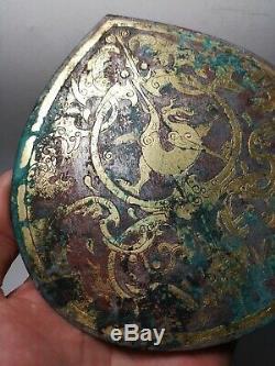 Bronze Doré Chinois Argent Damloup Plaqué Bêtes Massives Et Dragon Veine Danglu # 02