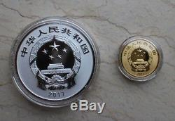 Chine 2017 Pièces D'or Et D'argent Set-chinois De Bon Augure Culture-nian Nian Vous Yu