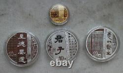 Chine 2019 Ensemble De Pièces D'or Et D'argent- Art Calligraphique Chinois (2e Édition)