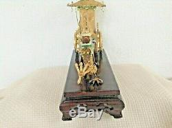 Chine Chinois Émail Argent Filigrane Figural Dragon & Transport, Gilt & Perles