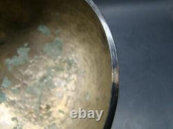 Chinois Tang (618-907) L'aumône De Moine Rare En Bronze Doré D'argent Bol W6733