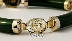 Chinois Vintage Vermeil & Jade Bracelet C1950 De