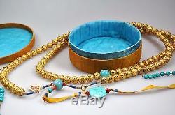 Collier Antique Chinois Qingson Cour Chinois De Chine En Argent Doré 1900