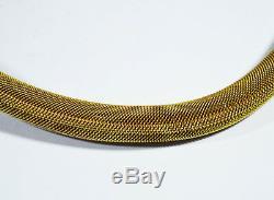 Collier De Filigre En Argent Doré, Exportation Chinoise, Rare, Xixe, Corail Hallmark