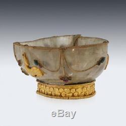 Cristal Chinois Anti-doré Et Roche Chinois Du Xixe Siège, Cuve À Brosses Pour Lave-vaisselle V. 1880