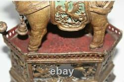 Début Chinois Gilt Silver Ou Metal Foo Lion Of Wealth Jewelry Store