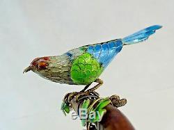 Figurine En Forme De Statue D'oiseau Miniature En Émail Doré À L'exportation, Exportation Chinoise