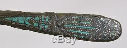 Han Dynasty Turquoise Or Et Argent Inlay Crochet Bronze Ceinture Chinoise
