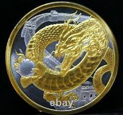 Le Monde Chinois Des Dragons 24k Gold + Collectionneurs Capsule 1 Once Oz
