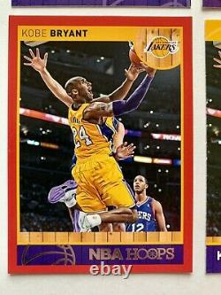 Lot Kobe Bryant 2013-14 Panini Chine #8 Gold Foil Auto-argent Holo-red Rare Ssp
