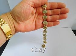 Lovely Cased Antique Chinese Export Argent / Or & Bracelet Mère De Perle