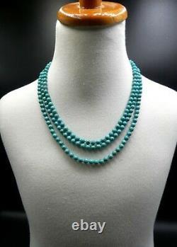 Or Chinois Vintage Au-dessus Du Fermoir En Filigrane D'argent Sterling Et 3 Cordes Turquoise Be