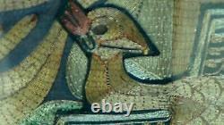Pair Antique 19c Émbroide De L'embroide De L'embroide De L'embroide De L'embroide De L'embroide De La Pêche