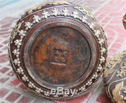 Paire De Pot À Vase Bol En Bronze Chinois Chinois