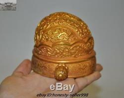 Palais Chinois D'argent Doré 24k Casquette Chapeau D'or Couvre-chef Royal Set Funerary Hairpin