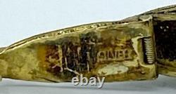 Pendentif Antique Chinois D'argent Et De Turquoise Articulé De Pillule De Charme De Poisson