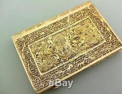 Porte-cartes Antique En Filigrane Doré, Chine