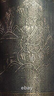 Pot Antique Chinois De Brosse D'argent Et D'or De Fil Par Kang XI Nian Zhi