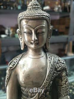 Statue Bouddhiste Tibétaine En Bronze Doré À La Chinoise - Bouddha Dari Rulai
