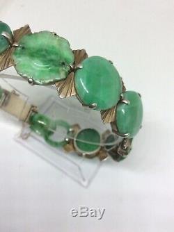 Superbe Bracelet Art Déco En Jade Chinoise Art Déco Époque C1920